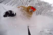 Travis Rice 日本滑鬆雪自拍